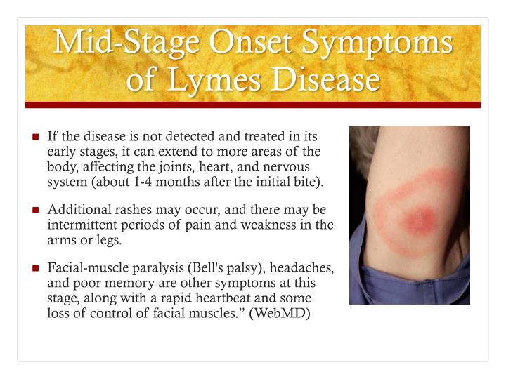 Mid-Stage Onset Symptoms of