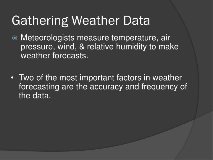 Gathering Weather Data