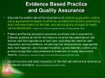 evidence based practice and quality assurance1