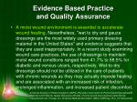 evidence based practice and quality assurance2