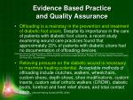 evidence based practice and quality assurance4