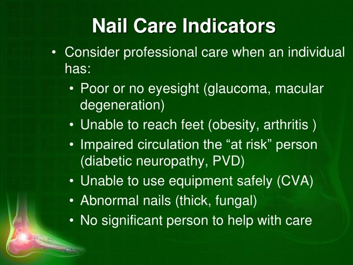 Nail Care Indicators