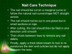 nail care technique
