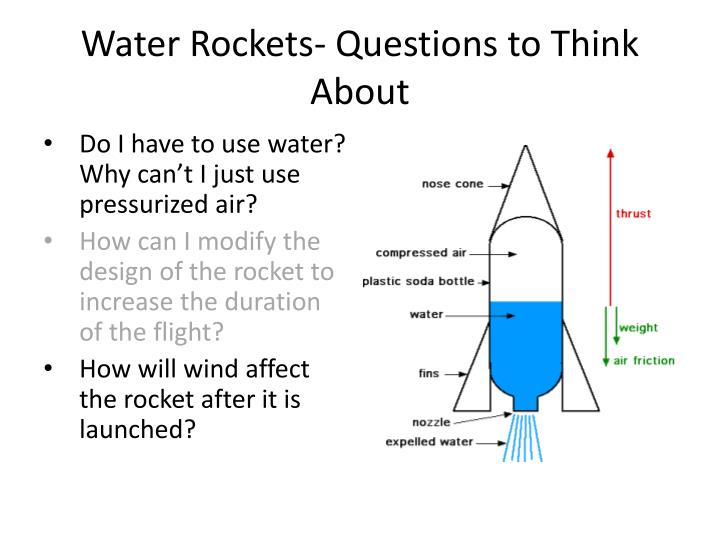 Water Rockets- Questions to Think About