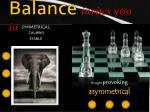 balance invites you in