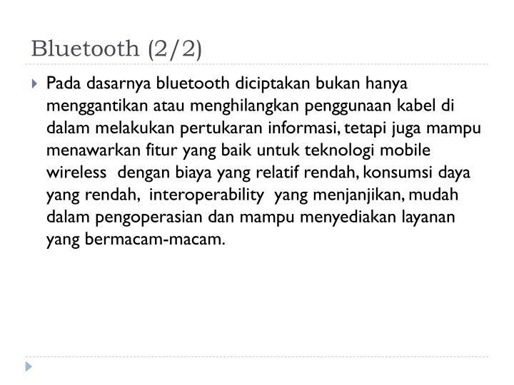 Bluetooth (2/2)