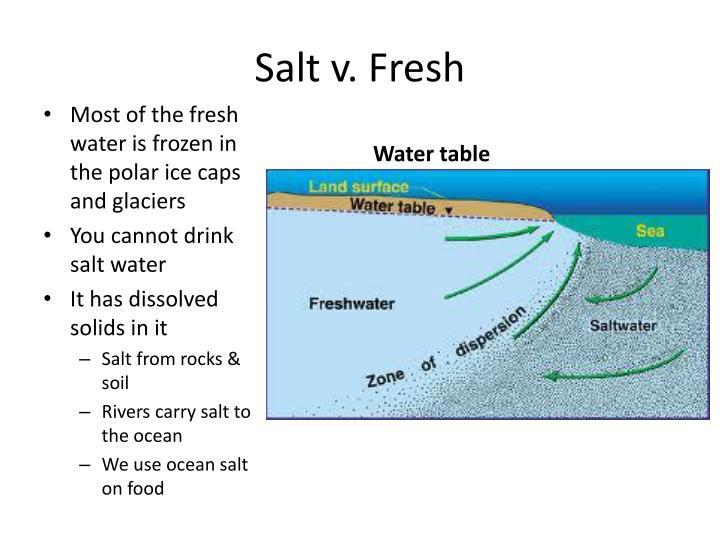 Salt v. Fresh