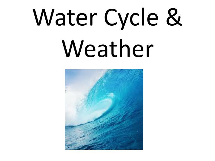 Water cycle weather chapter 6