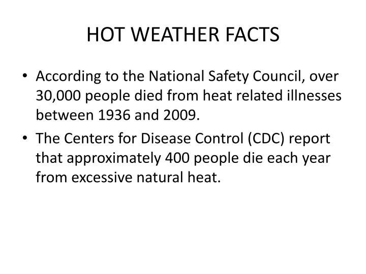 HOT WEATHER FACTS