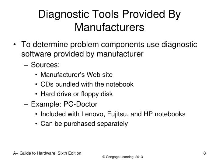Diagnostic Tools Provided By Manufacturers