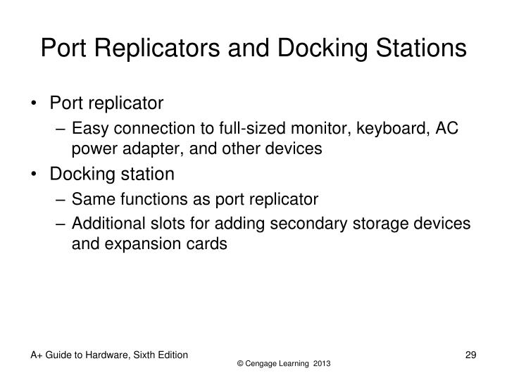 Port Replicators and Docking Stations