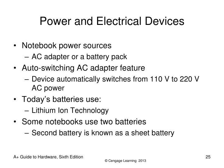 Power and Electrical Devices