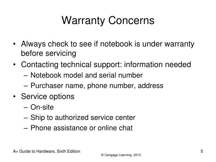 Warranty Concerns