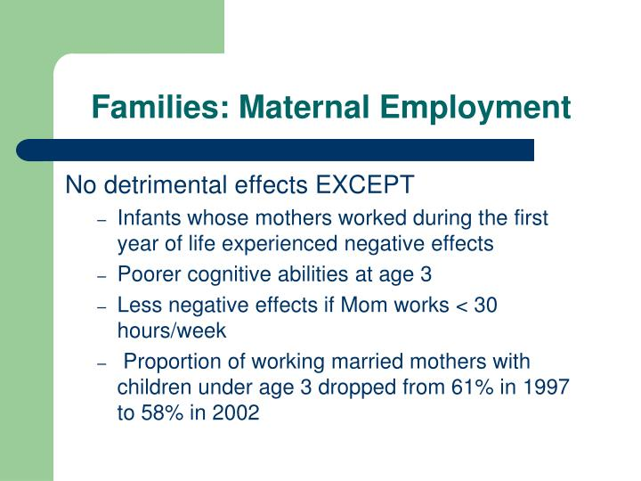 Families: Maternal Employment