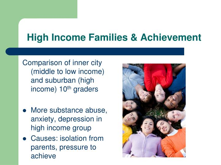 High Income Families & Achievement
