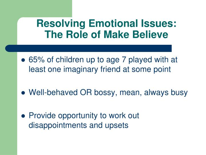 Resolving Emotional Issues:
