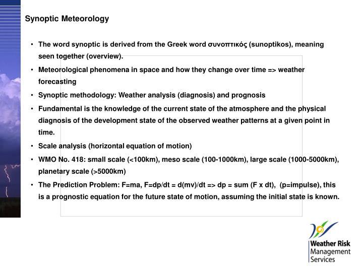 Synoptic Meteorology