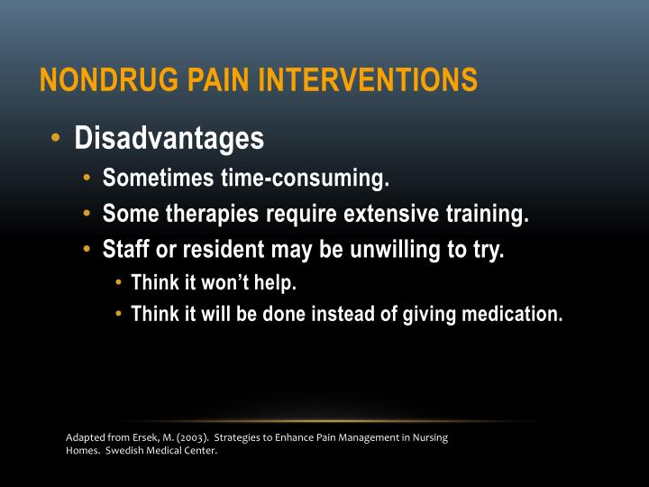 Nondrug Pain Interventions