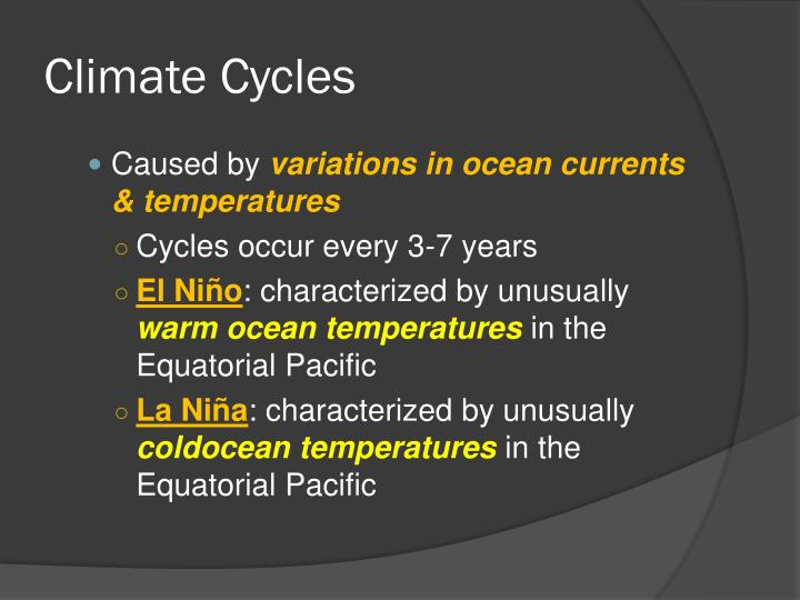 Climate Cycles