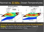 normal vs el ni o ocean temperatures