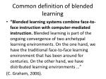 common definition of blended learning