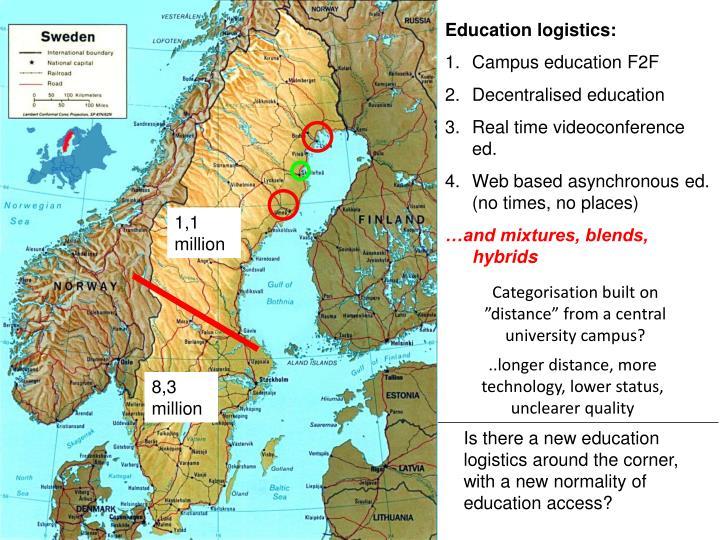 Education logistics: