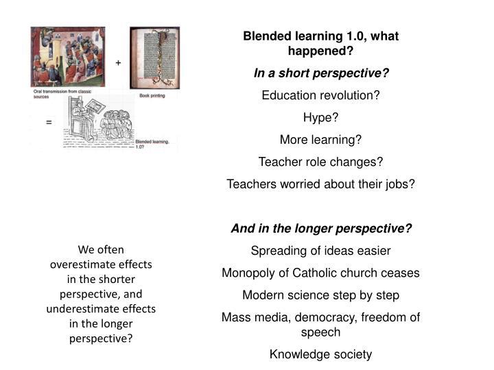 Blended learning 1.0,