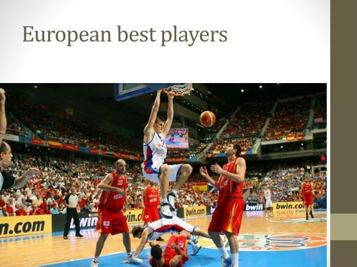 European best players