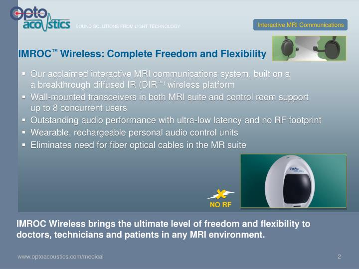 Imroc wireless complete freedom and flexibility