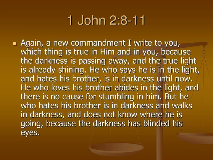 1 John 2:8-11