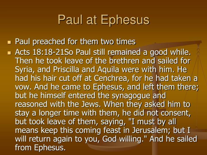 Paul at Ephesus