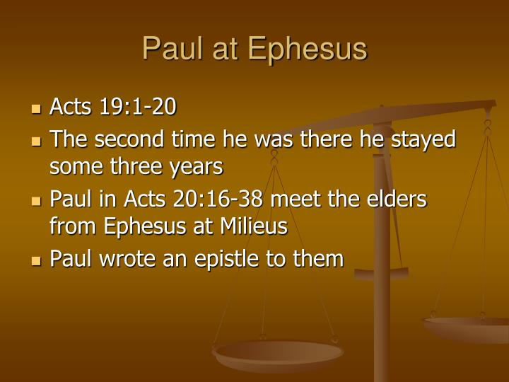 Paul at Ephesus