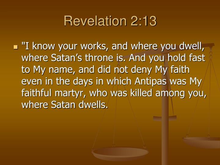 Revelation 2:13
