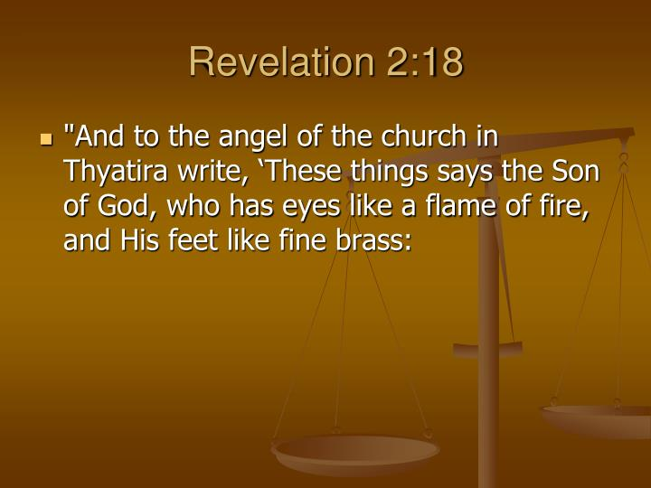 Revelation 2:18