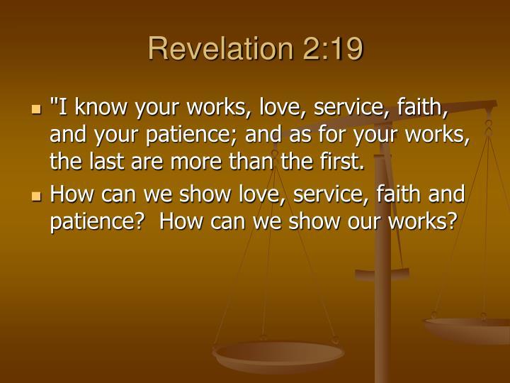 Revelation 2:19