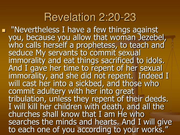 Revelation 2:20-23