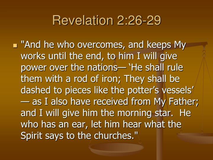 Revelation 2:26-29