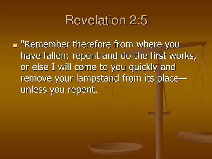 Revelation 2:5