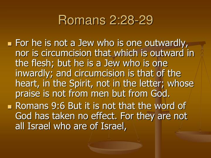 Romans 2:28-29