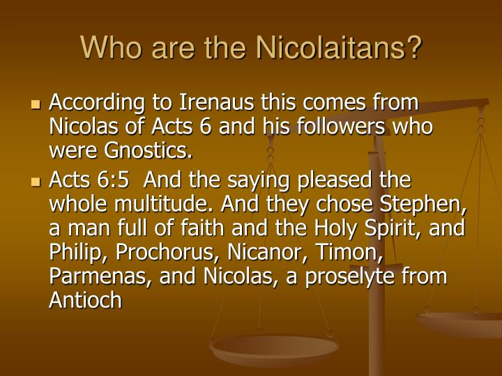 Who are the Nicolaitans?