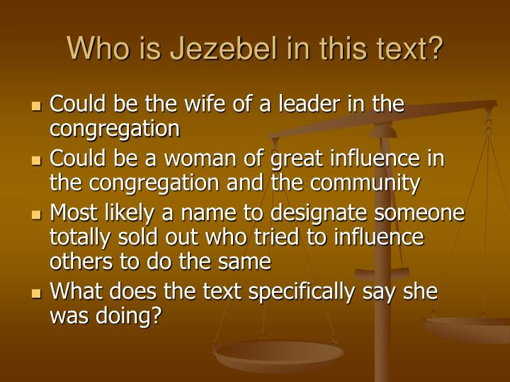 Who is Jezebel in this text?