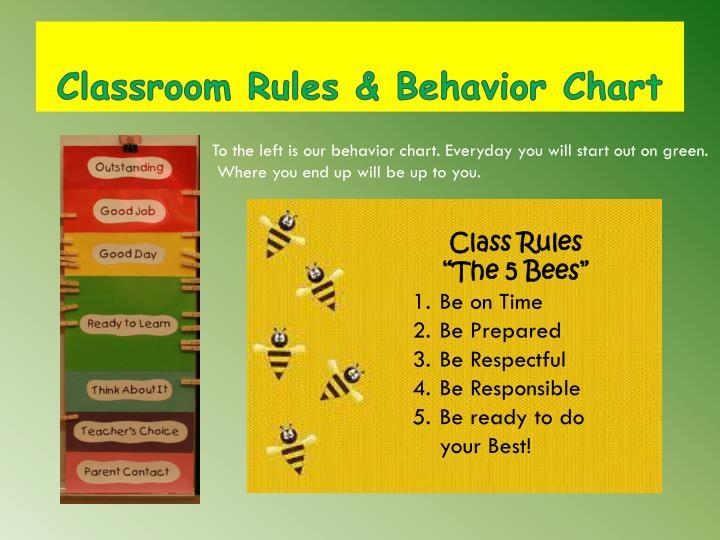 Classroom Rules & Behavior Chart