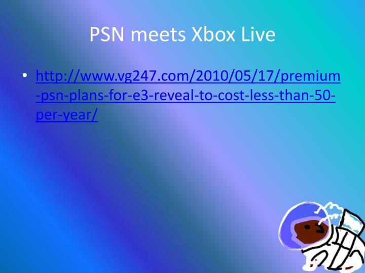PSN meets Xbox Live