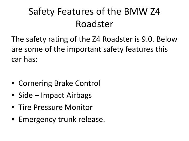 Safety Features of the BMW Z4 Roadster