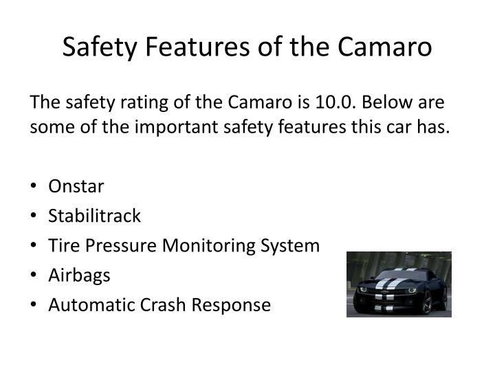 Safety Features of the Camaro