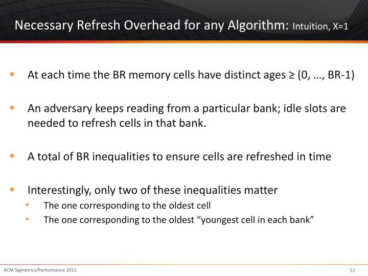 Necessary Refresh Overhead for any Algorithm: