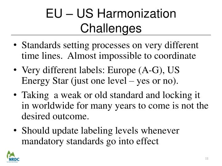 EU – US Harmonization Challenges