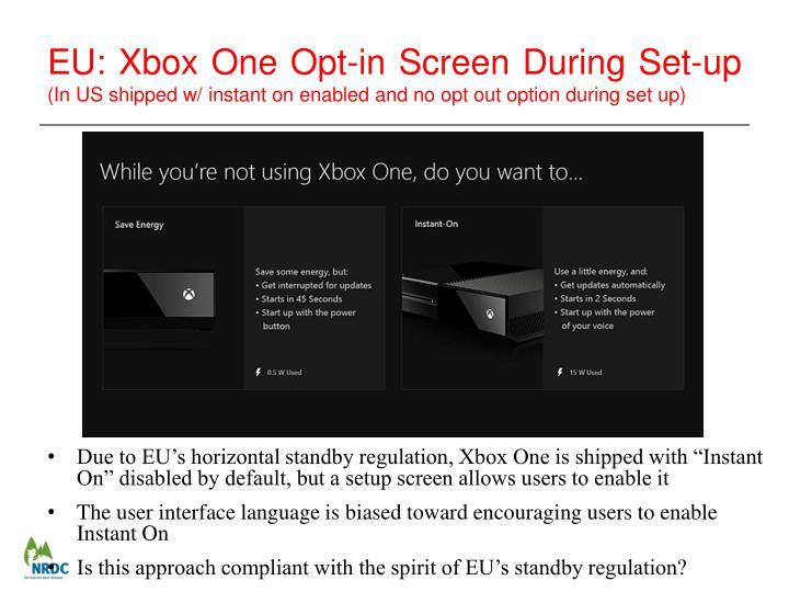 EU: Xbox One Opt-in Screen During