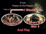 if not power to the players