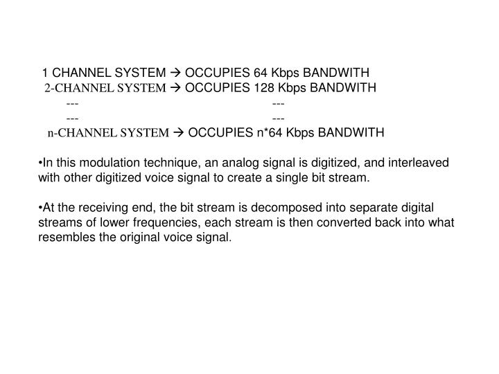 1 CHANNEL SYSTEM